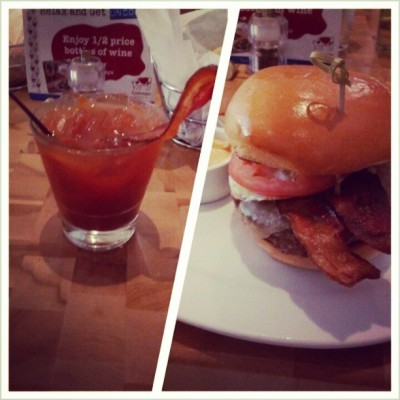 #baconbloody #kobe #burger #fried #egg #bacon #dinner  (at Zinburger)