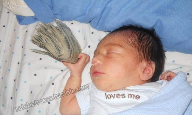 because a newborn should be exposed to your dirty coke money