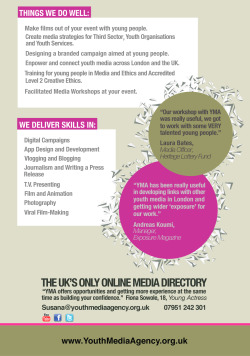 Youth Media Agency flyer side 2