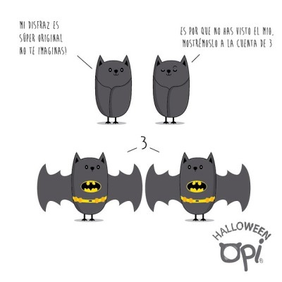 Batman oscarospinastudio.com opi cute kawaii animales batman ilustración