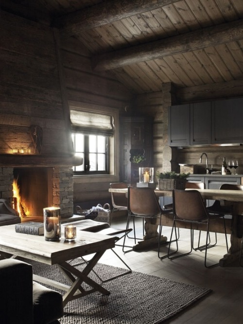 iamlittlei:  manchannel:  Cabin Living  I want this one!