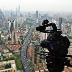 Shooting on top of Shanghai this evening.