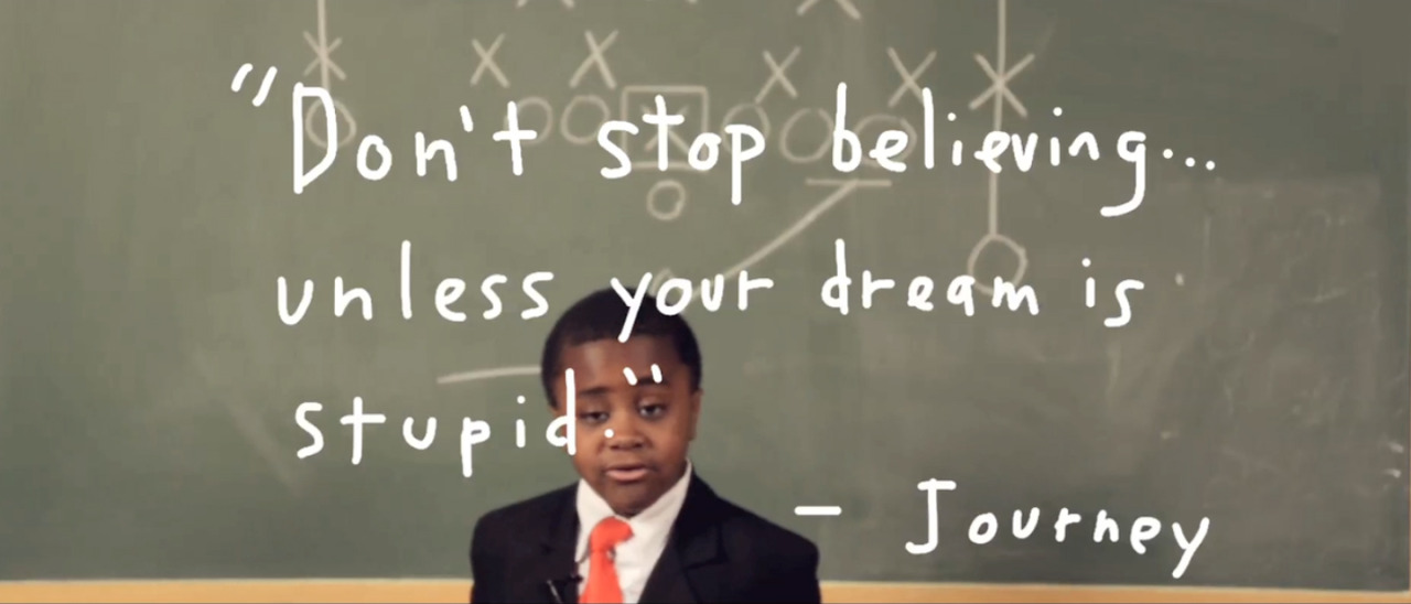 kidpres:  The world needed a pep talk so I made this. Watch! Share! Dance!