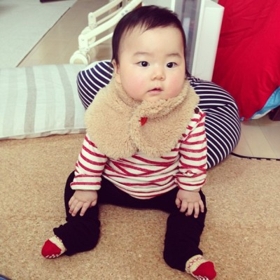 warm snood. #baby
