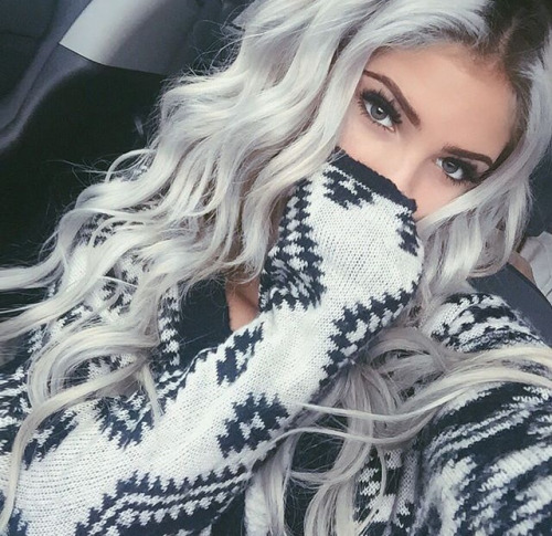 Lap Stajla Fryzury Siwe Włosy Z Ombre Grey Ombre Hair