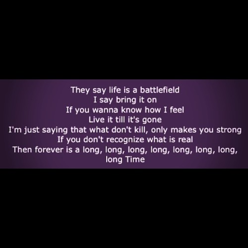They say #life is a battlefield, i say bring it on 😁 #2012 thank you #2013 lets get it on 😎 #usher