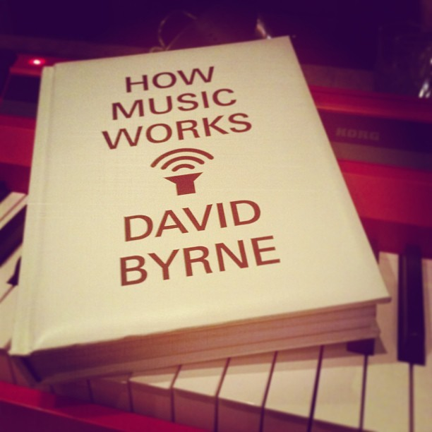 This book is pure genius if you're a musician…I mean…c'mon…David Byrne of The Talking Heads wrote it!!! And aside from this great find, my new endeavor to become a pianist, apart from my other instruments, is coming along swimmingly (at P is for Penthouse)