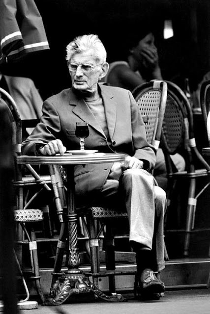 Samuel Beckett waits for service