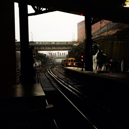 Cold day in journal square… #nyc #train #picoftheday #instagood #instaphoto #iphone