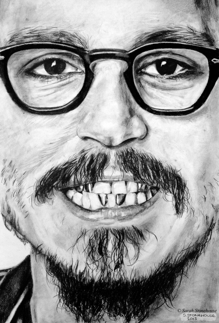"JD Teeth by *Sarah789 NEW DRAWINGWhen I first started drawing this I loved it. As I continued I started hating it because I didn't think it looked right, and now with the final piece I am quite pleased but I'm still not sure! I'm really proud of the teeth though.Most people who I've showed the reference picture to have said, ""Ugh, look at this teeth!"" or, ""Ugh, his beard looks like pubes."" Both very valid points, but after some commissions which haven't been that fun for me to do, I decided on a picture that really showed facial features which are my favourite things to draw. So I went for something a bit different, teeth!26/03/2013Mechanical Pencil & Black Conté PencilA3 smooth cartridge padI hope you like it"
