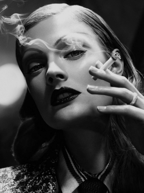 black-white-madness:  Madness:  Constance Jablonski for Vogue Germany February 2013 by Alexi Lubomirski