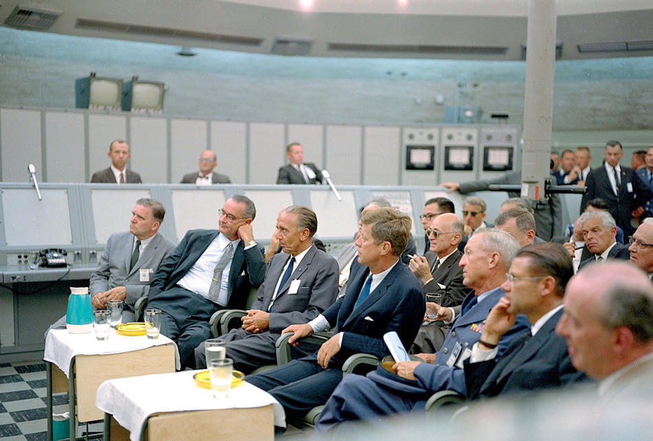Before JFK was assassinated and it was renamed to Kennedy Space Center, it was Cape Canaveral Missile Test Annex, Blockhouse 34. In '62, JFK, LBJ, and some other high-rankers took a tour.