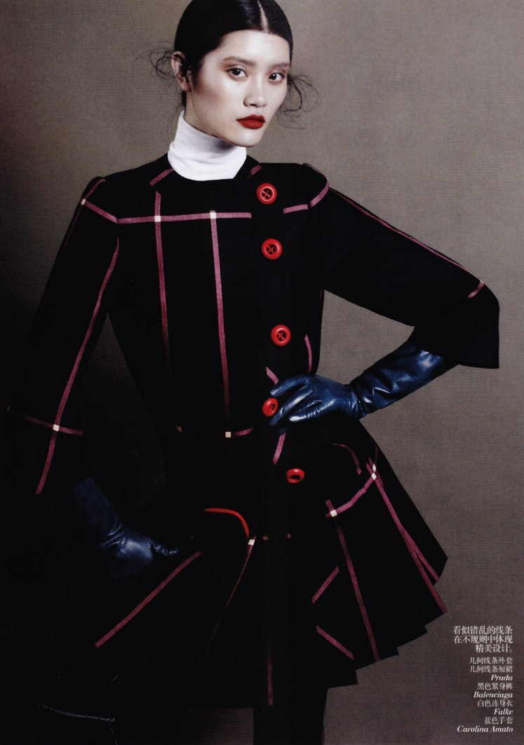 garavani:  Ming Xi photographed by Daniel Jackson for Vogue China August 2011