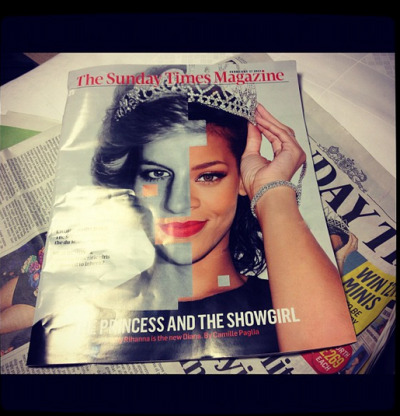 "#PrincessRihanna…""When your face is pic-stitchedto Princess Diana's on the cover of The Sunday Times…. I mean…"" #extraordinaRIHbehavior- @badgalriri"