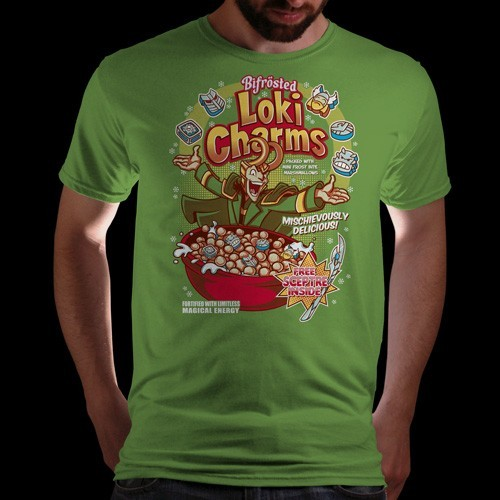 "qwertee:  ""Loki Charms (Reprint)"" is today's tee on www.Qwertee.com Get this great design now for the super price of £8/€10/$12 for 24 hours only. Be sure to ""Like"" this for 1 chance at a FREE TEE this weekend, ""Reblog"" it for 2 chances and ""Follow"" us for a 3rd chance (if you're not already:) Thanks Guys!"