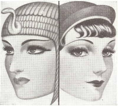 Detail of a 1934 Maybelline Mascara Advert  via http://drsphinx.wordpress.com