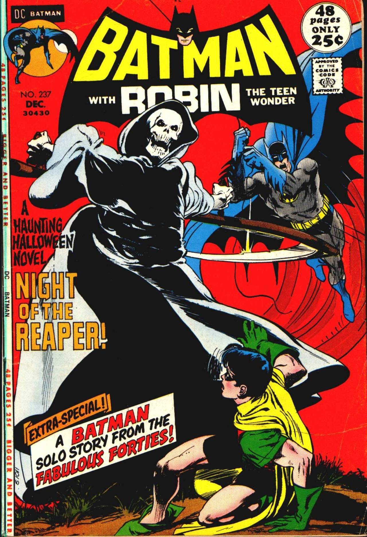 """Batman"" #237 (December 1971) cover art by Neal Adams"