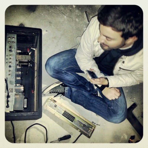 Nick doing a little amp repair. #reverb #fixit #handyman