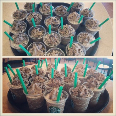 #mochacookiecrumble #frappuccino #upinthisbitch #sample #starbucks