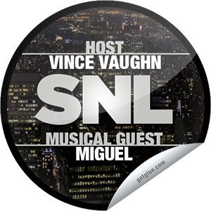 I just unlocked the Saturday Night Live: Vince Vaughn and Miguel sticker on GetGlue                      4872 others have also unlocked the Saturday Night Live: Vince Vaughn and Miguel sticker on GetGlue.com                  Vince Vaughn has a history of crashing weddings, but tonight he's crashing an awesomely hilarious episode of SNL w/ the smooth sounds of musical guest Miguel. Thanks for watching Saturday Night Live tonight! Share this one proudly. It's from our friends at NBC.