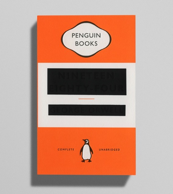 A new cover design for Orwell's 1984.