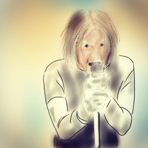 Just messing around with the #ipad #drawing #sketch #art #nin #closertogod #trentreznor