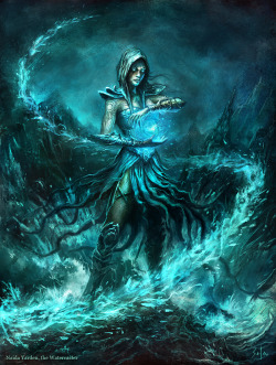 terra99:  Naida, the Watercaster by ~bpsola