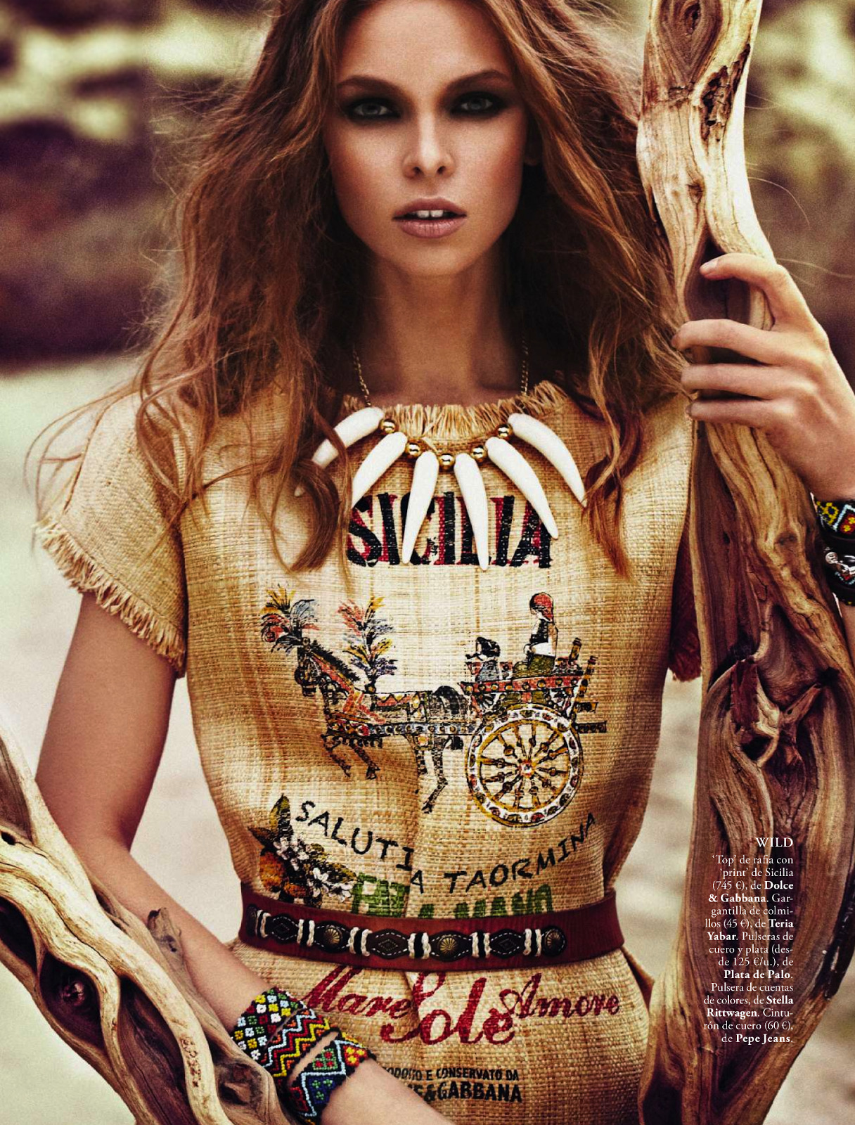 iowntherunway:  Safari: Lady vs Wild Lys Inger by Xavi Gordo for Elle Spain April 2013 See more from this set here