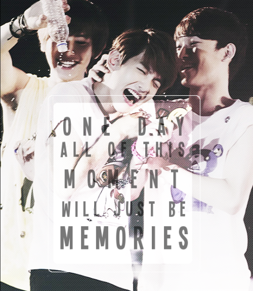 sehive:  chen x baekyeol :  one day, all of this moments will just be memories