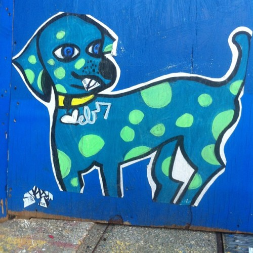 """Dog Ate My Sticker"" forced callabo… ka #ka #tvt #stickers #nyc #newyorkcity #graffiti #streetart"