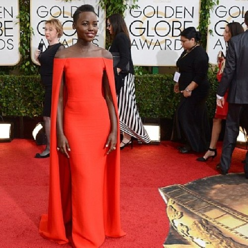 Lupita is on fire, could she be anymore stunning! #kenyan #ralphlauren
