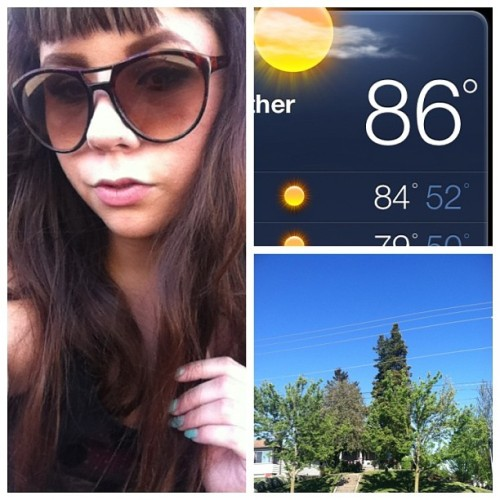 I'm melting 🙌💛☀ #seattle #sun #weird #itsonlymay