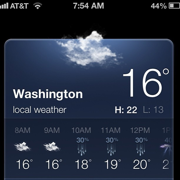 Today's weather: #washington  (at Renaissance Washington, DC Downtown Hotel)