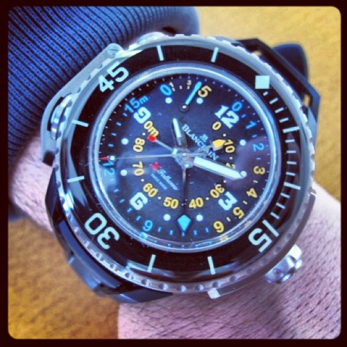 The Blancpain X-Fathoms ! #blancpain #fiftyfathoms #diver #toolwatch #divingwatch #horology  #watches / Live Pics on : http://www.watchonista.com/2914/watchonista-blog/watchographer/blancpain-x-fathoms-live-pics