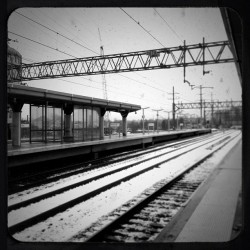 Love getting to sleep in late!!! #thankyousnow #newcameraapp #train #b&w #march #nychereicome