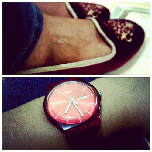 I'm gonna come run around and paint the town RED. #coloroftheday #red #swatch #solemate #050713