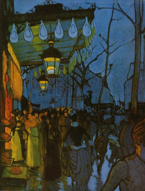 "artsandcrafts28:  ""Avenue de Clichy, five"" Louis Anquetin 1887"
