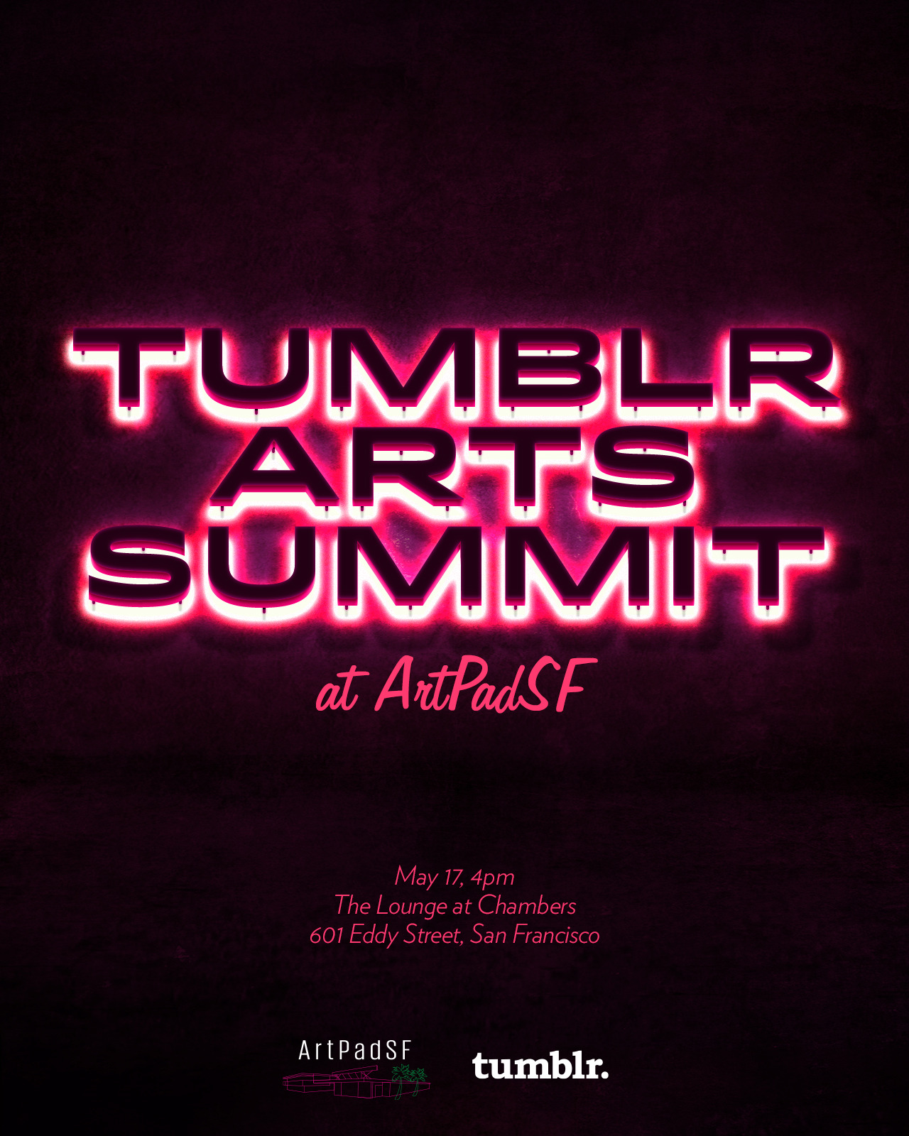 tumblropenarts:  The Tumblr Arts Summit at ArtPadSF will explore the way we share, create, and engage with art on the web. Seven leading art world professionals will discuss how their institutions, brands and associations have benefited from social media and the web, where and how they've found the most success, and the challenges presented with technologically engaging the art world. With: Ken Harman, curator and owner of Spoke Art Gallery James Salzmann, West Coast Managing Director of Paddle8 Jennifer Yin, Manager of Marketing & Digital Engagement at Asian Art Museum Joel Kuennen, Director of Operations, Senior Editor at ArtSlant Kara Q. Smith, Managing Editor of Art Practical and Community Engagement Coordinator at SFMOMA Liz Glass, Assistant Curator at Wattis Institute for Contemporary Art  Eric Dyer, Artist ArtPadSF has established a solid reputation by providing an opportunity for gallerists, collectors, curators, artists, critics and art lovers to experience the best of the emerging contemporary art market in an intimate and unique setting. There will be tons of art to enjoy and great discussion. If you're in San Francisco, please come out!