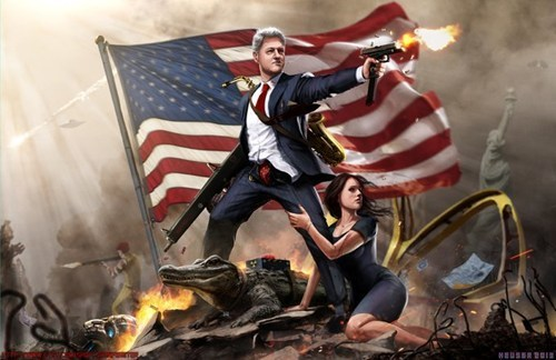 thedailywhat:  'Murican Pride of the Day: Bill Clinton the Lady Killer Illustrated by DeviantARTist SharpWriter.  Smokin hot