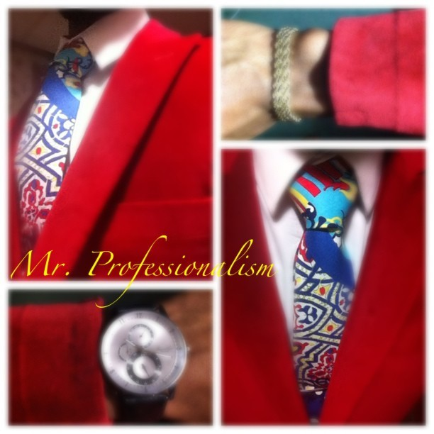 Mr. Professionalism OOTD #menswear #instafashion #suitdup #redblazer #creative #tie #rope #celebration #ootd #churchflow #unique #GQ #Esquire #empowermentcenter