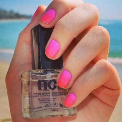 "Get in the mood for summer w/ @MPNails easy to apply ""Electric #Gradient"" #nailwraps designed for @shopncla x @nailinghwood $16 www.shopncla.com #repost #summernails #gradientnails"