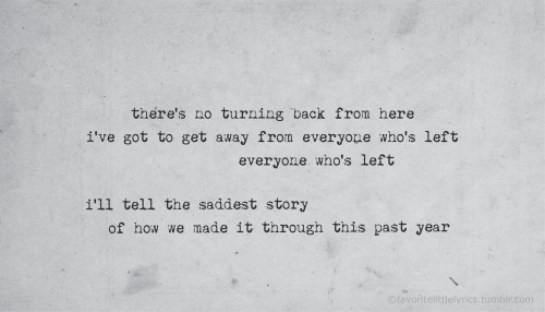 "favoritelittlelyrics:  A Day to Remember, ""Here's to the Past"""