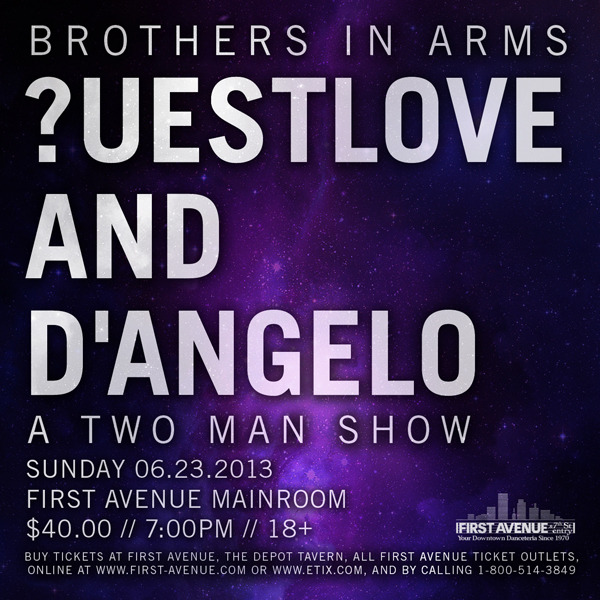 Just Announced: ?uestlove and D'Angelo in the Mainroom on Sunday, June 23 (7pm/18+). Tickets on sale Friday at noon here.