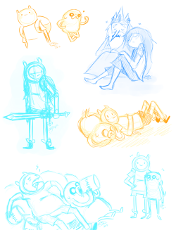 Last Adventure Time sketches for today! Good night! v - v