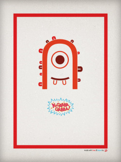 "Revisit of my favorite ""yo gabba gabba"" typography poster which I did a while back… Made with Love and Futura by r3creative."
