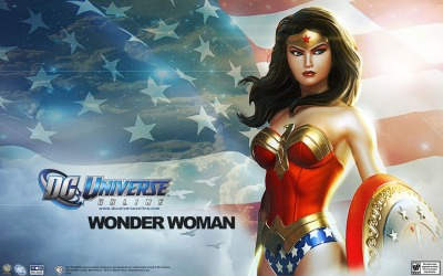 Wonder Woman wallpaper from the DC Universe online MMORPG