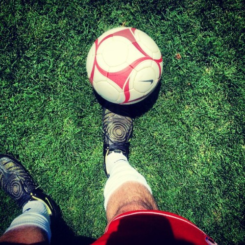 It's been a minute since I've kicked the ball around and I really miss it. #noskills