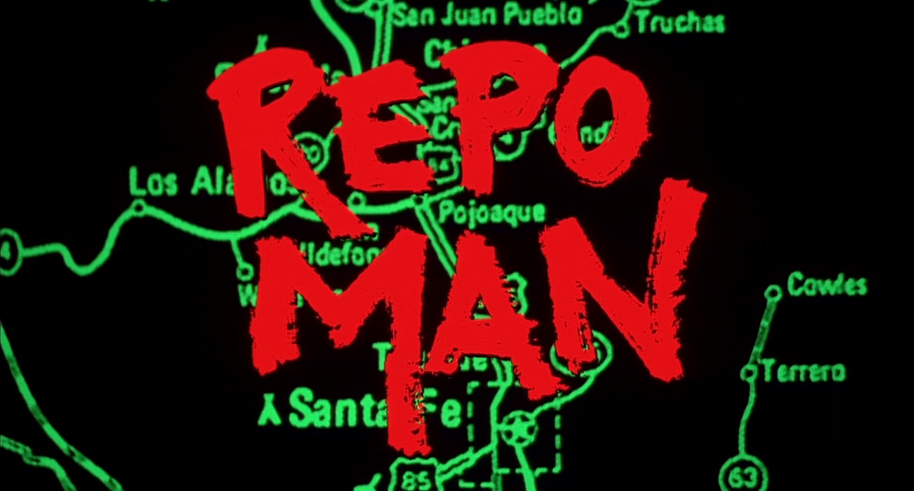 titleshd:  Repo Man (1984) dir. by Alex Cox