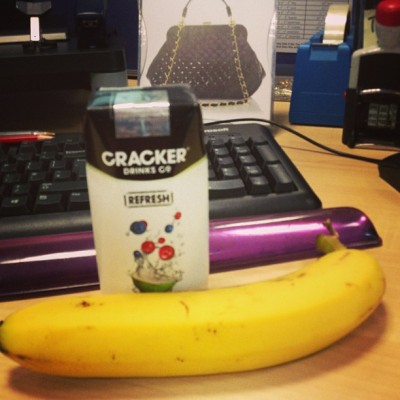 LOVE Cracker Co cranberry, blueberry & coconut water.  (at bracknell)