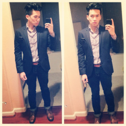 bencachadog:  rayyman23:  #tbt #photooftheday #ootn #ootnmagazine #gq #dapper #menstyle #lookbook #fashion #featuremenow #mensfashion #moda #trend #dapperetiquette #style #instafashion #igfashion #menswear #style #murse #oot #ootdmagazinei #nofilter  My classmate and his fashion. -_- Jealous